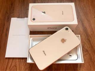 iPhone 8 256gb Gold 100% Smooth Like New Openline LTE Complete