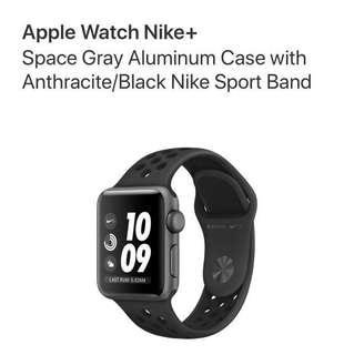 Apple Watch Nike+ Series 3 38mm Anthracite Black