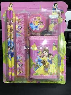 Princess theme wallet stationary packages- preschool party goodies bag packages