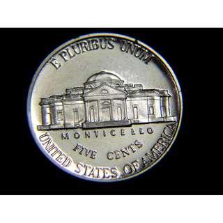 2000年美國第三任總統費杰遜及其居所蒙蒂塞洛大宅5仙鎳幣(精鑄版, S標記)