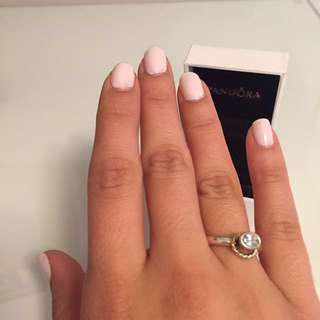 Pandora ring with gold