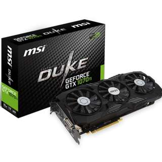 [CLEARANCE PRICE] MSI GTX 1070 Ti DUKE 8G Graphics Card