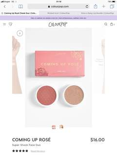 Coming Up Rosè Face Duo