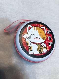 日本沖繩限定招財貓散子包