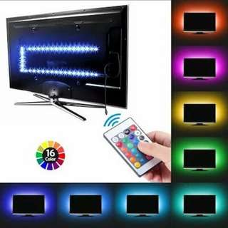 TV Backlight LED Strip Light 5V SMD 5050 Background Rope Bias Lighting For HDTV, Desktop PC