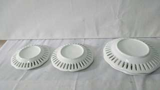 Set of 4 porcelain plates with special cut edges