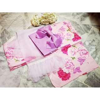 Pink Floral Yukata / Bon Odori (Pre-owned)