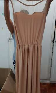 Nude Mesh Dress - Semi Formal