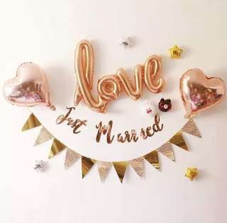 Just Married (Rose Gold Package)