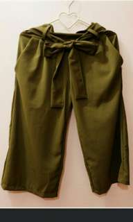 Brand new army green culottes