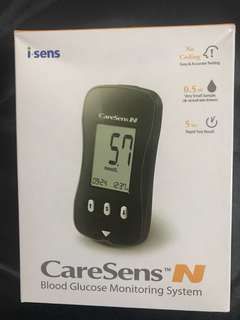 Caresens blood glucose monitoring system