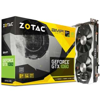 [CLEARANCE PRICE] Zotac GTX 1060 AMP Edition 6GB Backplate Version (ZT-P10600F-10M)