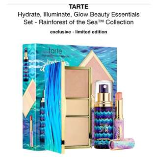 🚚 BNIB AUTHENTIC Tarte Hydrate, Illuminate, Glow Beauty Essentials Set - Rainforest of the Sea™ Collection (Limited Edition)