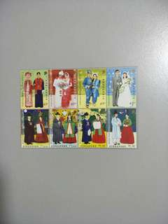 Singapore Stamps Traditional Wedding Costumes