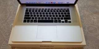 🚚 2015 Macbook Pro Retina 15吋 I7/16G/256G 功能順無維修 98%新