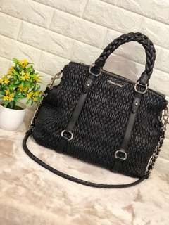 Miumiu Black Cloquet Nappa Shopping Bag