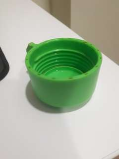 Green Tupperware Water Bottle Cap