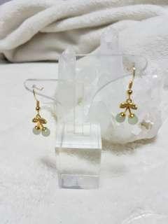 ⭐Earring GradeA Myanmar Jade