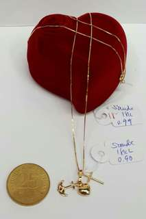 18k pendant and chain