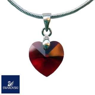 SWAROVSKI Crystal Heart Pendant 10mm (925 silver)