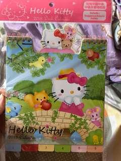hello kitty 2018 坐枱月曆 座檯曆 有香港假期