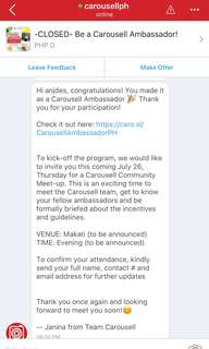 Yay! Thank you so much carousell! 💖