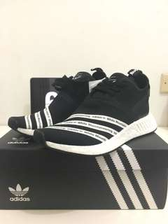 adidas NMD R2 White Mountaineering Black (BNIB Original)