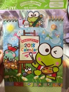 Keroppi 青蛙 2018 座檯曆 坐枱月曆 有香港假期