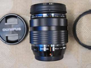 12-40mm f2.8 PRO olympus with free B+W UV filter