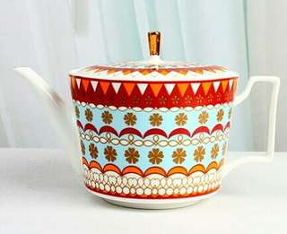 Bone China Bohemian Tea Pot