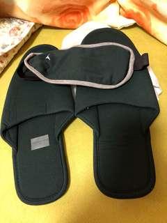 拖鞋+眼罩