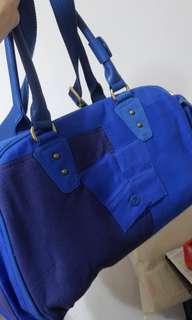PUMA  藍色運動型旅行袋 (容量大)(全新)