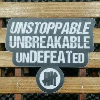 Undefeated - Typography Logo Sticker