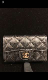 Chanel 荔枝皮card holder