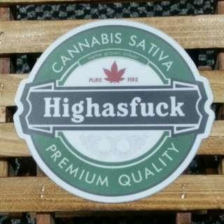 Highasfuck Vinyl Logo Sticker