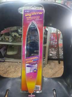 Cermin center crome surfboard mooneyes