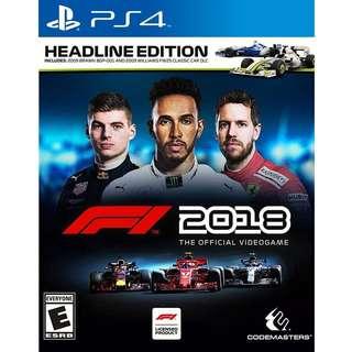 PS4 F1 2018 Headline Edition Preorder