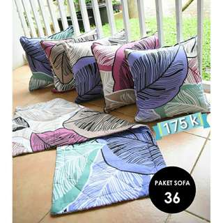 [New] 5pcs Sarung Bantal + Taplak Meja