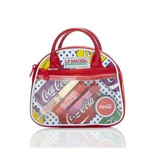 🚚 [047] Lip Smacker 4pc Coke Retro Cosmetic Bag