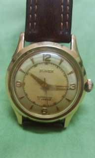 50's 18k solid gold 17j. Automatic watch. Perfect condition !