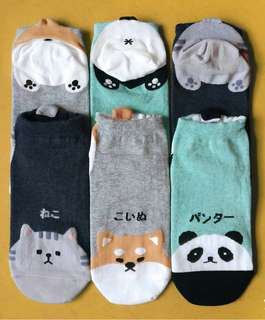 Character Socks - Panda/Dog/Cat Butt Design