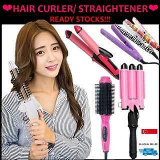 🚚 BRAND NEW!! LIMITED READY STOCKS!! STRAIGHT, VOLUME OR CURL? PREMIUM HAIR CURLER, STRAIGHTENER IN USUAL SIZE & MINI SIZE (CUTE PRINTS) HAIR VOLUME BRUSH!! PRINCESS PINK FOLDABLE 3-IN-1 COMPACT & TRAVEL SIZE, ABLE TO FIT IN LADIES'S HANDBAG 😱👜HURRY!!!!