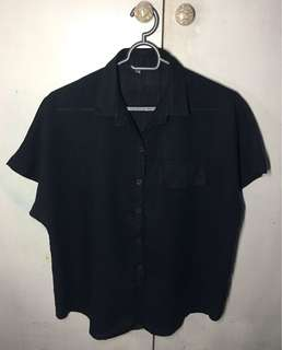 🌈Pre-loved Plus size Black Polo