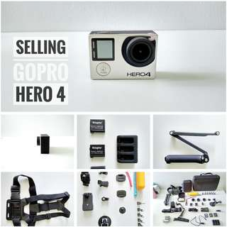 Go Pro 4 With All The Accessories