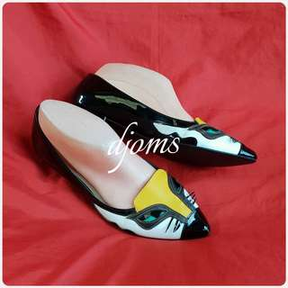 ✔SZ 6 KATE SPADE CAT LOGO POINTED FLATS SHOES