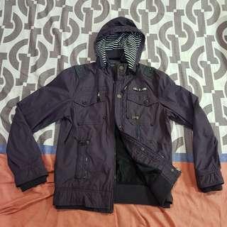 Waterproof winter jacket dark violet purple
