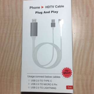 HDMI adapter for iOS/android