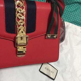 Gucci leather padlock purse