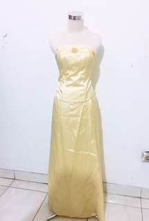 Yellow party gown