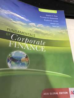 🚚 Fundamentals Of Corporate Finance second edition Stephen Ross Randolph westerfield Bradford Jordan Joseph Lim Ruth Tan Asia global edition